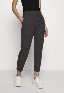 Selected Femme - SLFRIA CROPPED PANT - Spodnie materiałowe - dark grey melange