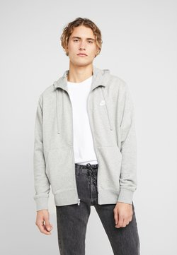 Nike Sportswear - CLUB HOODIE - Sweatjacke - grey heather/matte silver/white