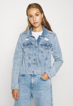 Hollister Co. - CROPPED JACKET - Kurtka jeansowa - blue denim