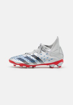 adidas Performance - PREDATOR FREAK .3 MG UNISEX - Botas de fútbol con tacos - silver metallic/core black/roy blue