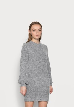 Object Petite - OBJEVE NONSIA DRESS  - Vestido de punto - light grey melange