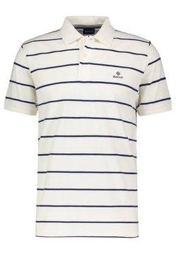GANT - BRETON STRIPE RUGGER - Poloshirt - offwhite (20)