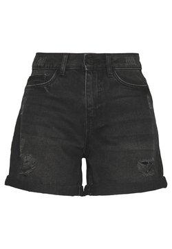 Noisy May Petite - DESTROY SHORTS - Jeansshort - black
