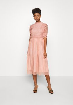 YAS - YASSOPHIA MIDI DRESS - Sukienka koktajlowa - misty rose