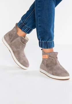 HUB - SERVE - Ankle Boot - dark taupe/offwhite/dark gum