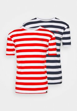 Newport Bay Sailing Club - BOLD HORIZONTAL STRIPE 2 PACK - T-Shirt print - navy/red