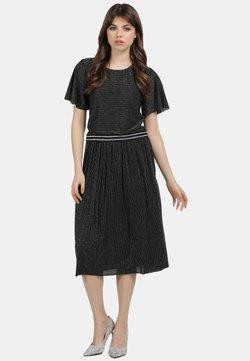 myMo - SHIRT - T-Shirt print - schwarz silber