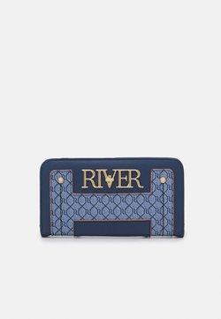 River Island - MONOGRAM FOLDOUT - Portfel - blue
