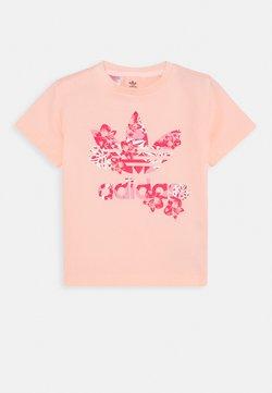 adidas Originals - TREFOIL TEE - Printtipaita - light pink