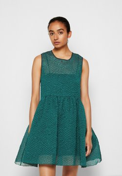Victoria Victoria Beckham - SLEEVELESS MINI DRESS - Juhlamekko - emerald green