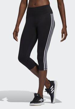 adidas Performance - BELIEVE THIS 3 STRIPES LEGGINGS - Urheilucaprit - black