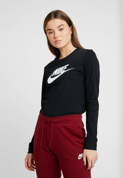 Nike Sportswear - TEE ICON - Pitkähihainen paita - black/white