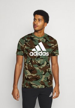 adidas Performance - CAMO - Camiseta estampada - khaki
