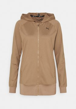 Puma - STUDIO JACKET - Sweatjacke - amphora heather