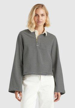 khujo - AITHU - Poloshirt - schwarz-weiß gestreift