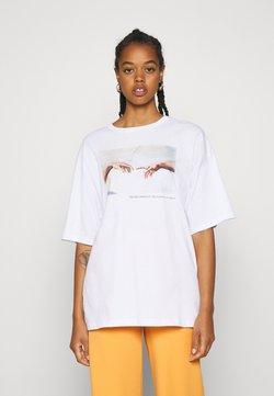 Even&Odd - Printtipaita - white
