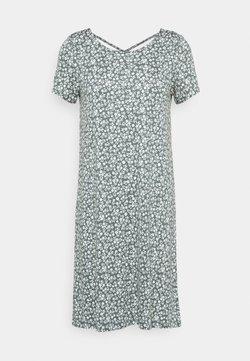 ONLY Tall - ONLBERA BACK LACEUP DRESS - Vestido ligero - balsam green