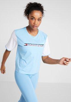 Tommy Sport - TEE COLORBLOCK LOGO - T-Shirt print - blue