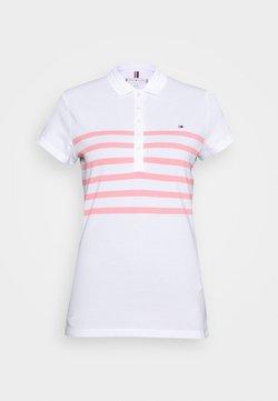 Tommy Hilfiger - ALEX SLIM - Poloshirt - white/pink