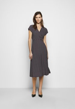 Lauren Ralph Lauren - PRINTED MATTE DRESS - Vestido largo - navy/red/multi