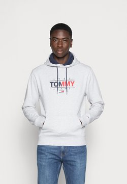 Tommy Jeans - ESSENTIAL GRAPHIC HOODIE - Bluza - silver grey