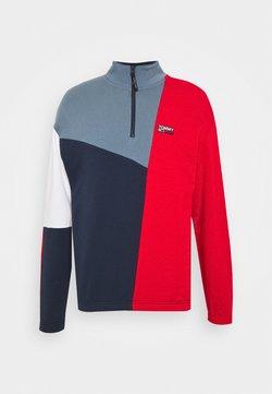 Tommy Jeans - RETRO COLORBLOCK MOCK NECK - Sweatshirt - twilight navy / multi