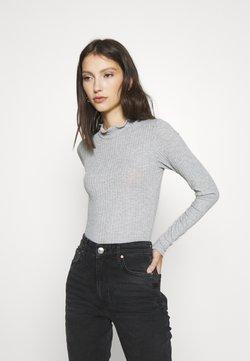 New Look - TURTLE NECK BODY - Langarmshirt - mid grey