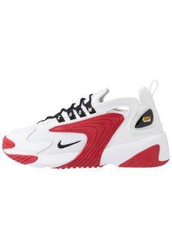 Nike Sportswear - ZOOM  - Baskets basses - white/black/gym red