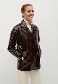 Mango - ALEX-I - Leather jacket - braun