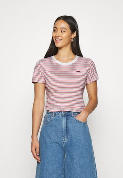 Levi's® - BABY TEE - T-Shirt print - pearl poppy red