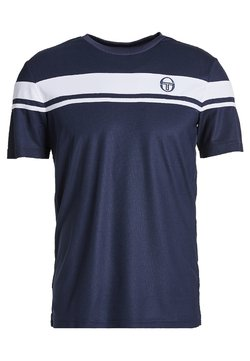 sergio tacchini - YOUNG LINE PRO T-SHIRT - T-Shirt print - navy/white