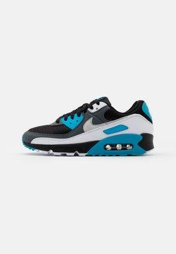 Nike Sportswear - AIR MAX 90 2 UNISEX - Matalavartiset tennarit - black/neutral grey/dark grey/white/laser blue/metallic silver