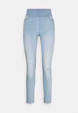 Freequent - FQSHANTAL ANKLE BROKEN - Slim fit jeans - bleached blue denim