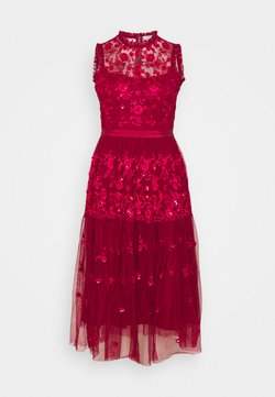 STUDIO ID - EMBROIDED DRESS - Cocktailjurk - red