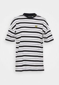 Lyle & Scott - STRIPE - T-Shirt print - jet black