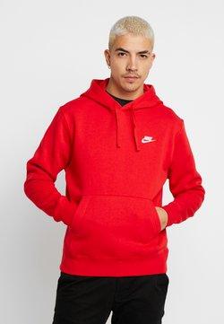 Nike Sportswear - Club Hoodie - Hoodie - university red/white