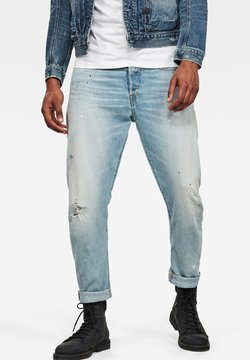 G-Star - TYPE C 3D STRAIGHT TAPERED 2.0 - Jeans Straight Leg - vintage mineral blue painted destroyed