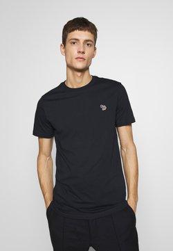 PS Paul Smith - SLIM FIT ZEBRA - T-Shirt basic - navy