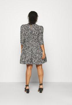 Simply Be - TIERED SMOCK DRESS WITH HALF DRESS - Korte jurk - mono