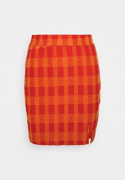 Glamorous - MINI SKIRT WITH SIDE SPLIT - Minirok - red/orange
