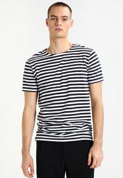Urban Classics - STRIPE - T-Shirt print - navy/white
