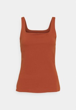 Nike Performance - THE YOGA LUXE TANK - Camiseta de deporte - rugged orange/light sienna