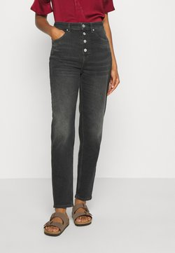 Tommy Jeans - MOM HIGH RISE  - Jeans Relaxed Fit - black comfort