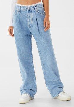 Bershka - Straight leg -farkut - blue denim