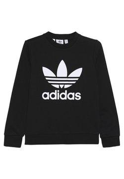 adidas Originals - TREFOIL CREW - Felpa - black/white