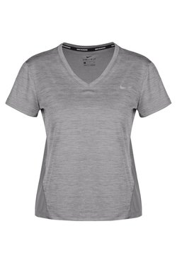 Nike Performance - MILER V NECK - Camiseta estampada - gray