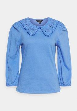Dorothy Perkins - EMBROIDERED COLLAR  - Maglietta a manica lunga - blue