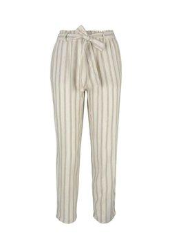 TOM TAILOR DENIM - Stoffhose - brown beige stripe