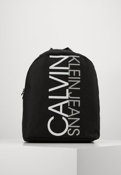 Calvin Klein Jeans - INSTITUTIONAL LOGO BACKPACK - Reppu - black