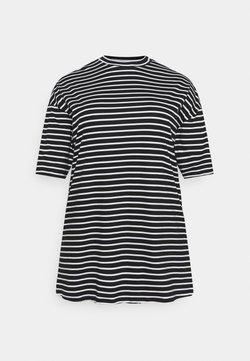 Missguided Plus - OVERSIZED  DRESS - Trikoomekko - white/black
